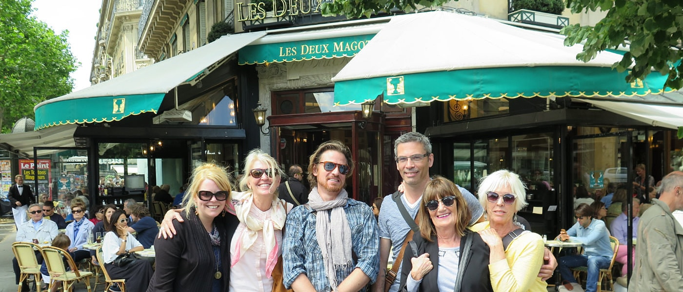 Left Bank Writer's Retreate Group at Les Deux Magots, France