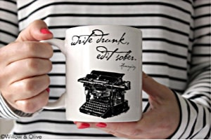 Write Drunk, Edit Sober Hemingway Quote Coffee Mug
