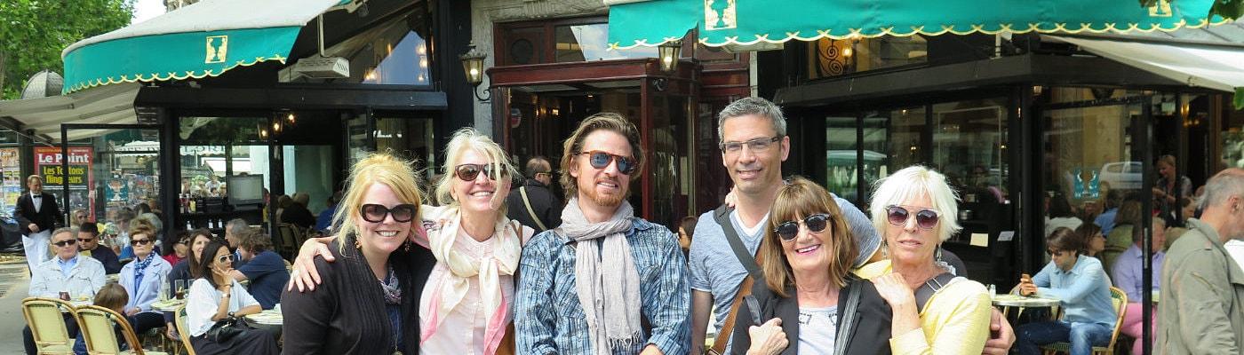 Left Bank Writer's Retreate Group at Les Deux Magots, France