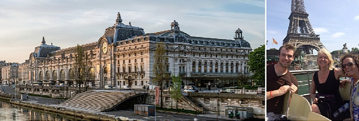 Paris's Musee d'Orsay and a boat trip to the Eiffel Tower